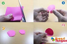 cara membuat bunga dari lipatan kertas tutorial cara membuat bunga rose dari kertas kreasi tangan
