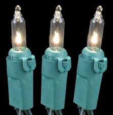 clear mini lights set 100 light green wire 50