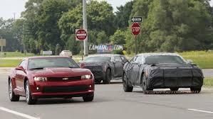camaro forums 5th 2016 camaros spied running with 5th camaro 6th 2016