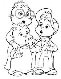 Coloring Pages Of Alvin And The Chipmunks Christmas Coloring 80s Coloring Pages