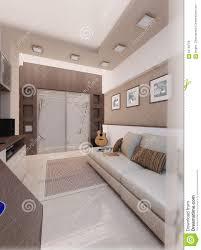 Man Bedroom by Young Man Bedroom Interior Design Render 3d Stock Illustration
