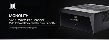 monolith 5x200 watts per channel multi channel home theater power