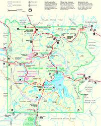 aa road map usa yellowstone road map