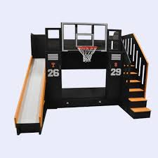 Bunk Beds The Ultimate Basketball Bunk Bed Backboard Slide And More