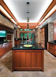 an arts u0026 crafts style frank lloyd wright inspired kitchen with