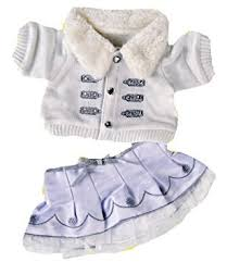 teddy clothes silver white winter teddy clothes