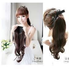 ribbon ponytail free shipping ribbon hair pieces ponytail kanekalon fiber curly