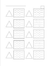 addition and subtraction fact families worksheet the triangle