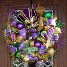 deco mesh mardi gras wreath by southerncharmwreaths on etsy