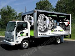 isuzu landscape truck 3d vehicle wrap graphic design ny nj cars vans trucks