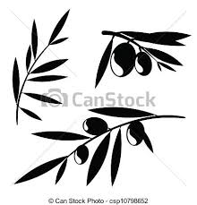 graphic olive tree branches graphic silhouettes of olive clipart