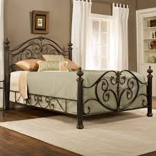 Decorative Metal Bed Frame Queen Hillsdale Jacqueline Metal Bed Hayneedle