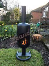 Homemade Chiminea Gas Bottle Log Burner Ebay