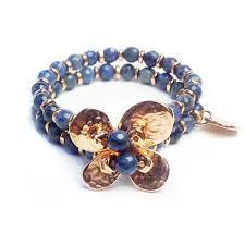 blue stone bracelet images Bracelet gemstones blue stone flower rose gold d112r jpg