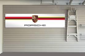 porsche garage porsche racing garage workshop banner
