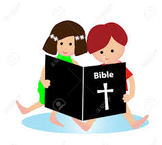 child reading bible royalty free cliparts vectors and stock