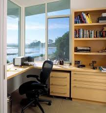 Space Saving Built In Office Furniture In Corners Personalizing - Built in home office designs