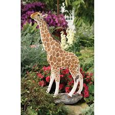 design toscano gerard the giraffe statue reviews wayfair