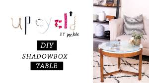 Home Decor Table Upcycl U0027d Diy Shadowbox Table Furniture Makeover Home Decor