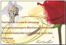 mot carte mariage carte felicitation mariage