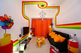 Funky Curtains by Best Colors For A Basement Family Room With Funky Ceiling Lighting