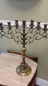 antique menorah majestic antique synagogue hanukkah menorah circa 1890 made in
