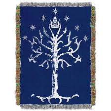 the white tree of gondor tapestry throw lord of the rings the
