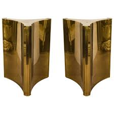 mid century modern room divider midcentury pair of brass triangulate dining table bases by