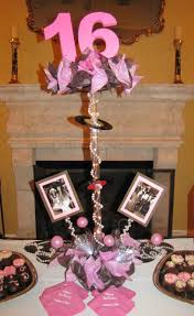 sweet 16 table centerpieces sweet sixteen decorations ideas decoration image idea