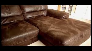stunning 3 4 seater brown nubuck real leather right facing corner