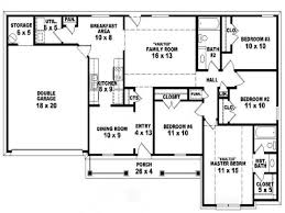 four bedroom ranch house plans 1 story 4 bedroom house plans home decoration