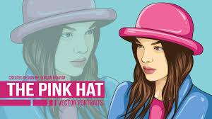 illustrator tutorial vectorize image the pink hat tutorial vector portraits using adobe illustrator cc