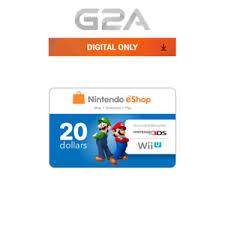 eshop gift cards nintendo eshop gift card 20 cad nintendo switch 3ds wiiu digital