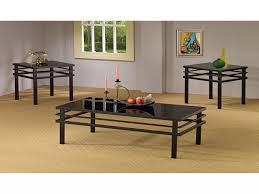 black coffee table sets luxury coaster furniture 3 piece glass top