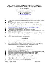 Automation Engineer Resume Instrumentation Project Engineer Resume Free Resume Example And