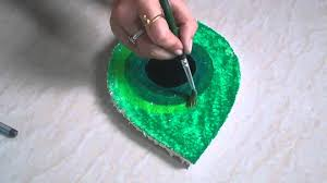 diy peacock feather creative thermocol art how to ma youtube