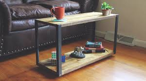 modern diy coffee table with aluminum legs youtube