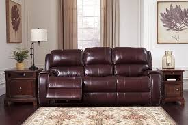 Burgundy Living Room Furniture by Gilmanton Burgundy Power Reclining Sofa With Adjustable Headrest