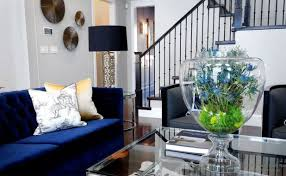 Navy Couch Decorating Ideas How To Decorate A Living Room With Dark Blue Sofas Okaycreations Net