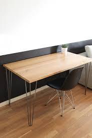 bureau metal et bois bureau design bois massif et metal idées créa