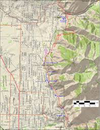 Road Map Utah by North Ogden Bonneville Shoreline Trail