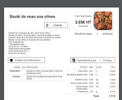 fiche cuisine calcul du prix de revient d une recette en cuisine koust