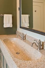 Double Trough Sink Bathroom Modern Trough Sink Instead Of Double Vanities Maybe Do Wall