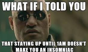 Sick In Bed Meme - morpheus is sick of hearing people talk about not getting enough