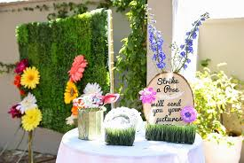 wedding backdrop grass diy garden themed bridal shower