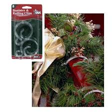 pack of 8 banister u0026 railing clips for christmas decorations