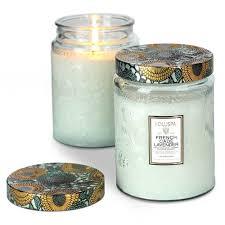 voluspa cade lavender large glass jar candle