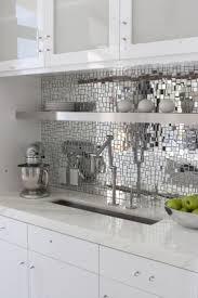 White Kitchen Ideas Pinterest Beautiful White Kitchen Mirror Splashback Intended Decorating