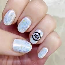 custom monogram initials nail stamping plate handmade nail art
