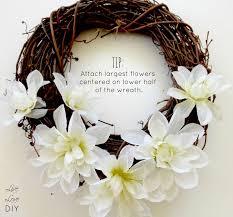 flower wreath livelovediy diy flower wreath